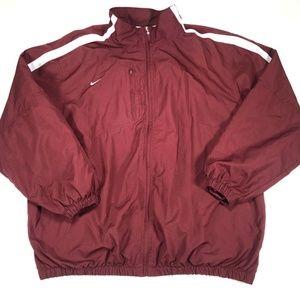 Nike Red Full Zip Long Sleeve Jacket Men's Big & T
